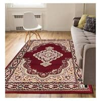 "Eastgate Traditional Medallion Red Area Rug - 3'11"" x 5'3"""