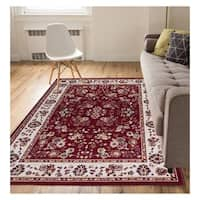 """Eastgate Traditional Oriental Classic Red Area Rug - 3'11"""" x 5'3"""""""