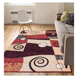 Eastgate Abstract Geo Mid Century Modern Multi Color Area Rug (3'3 x 5')
