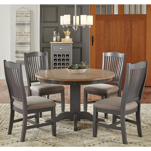 Greta Grey and Brown Wood 6-piece Dining Set