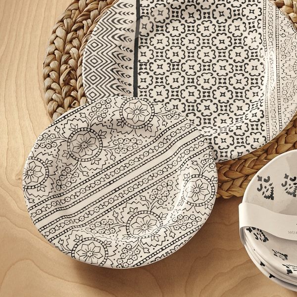 TAG Henna Bamboo Melamine Salad Plate Set Of 4