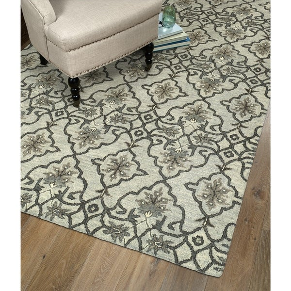 Hand-Tufted Christopher Imperial Mint Wool Rug (2'6 x 8')