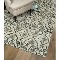 Hand-Tufted Christopher Imperial Mint Wool Rug - 5' x 7'9