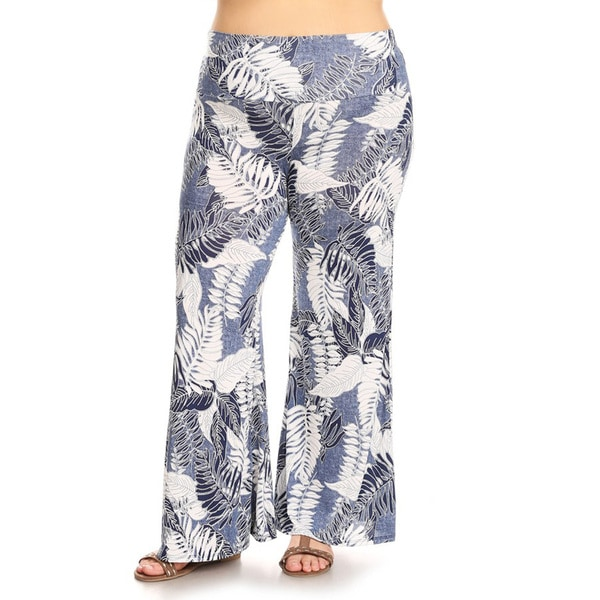 4de2936bd0f52f Shop Women's Plus Size Mixed Leaves Lounge Pants - On Sale - Free ...