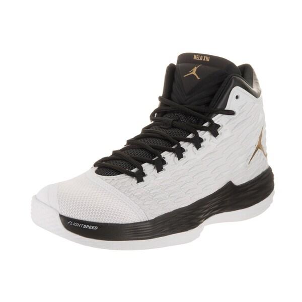 Nike Jordan Melo M13 XIII black silver Men Basketball Shoes OutDoor 2017 039e1fd28