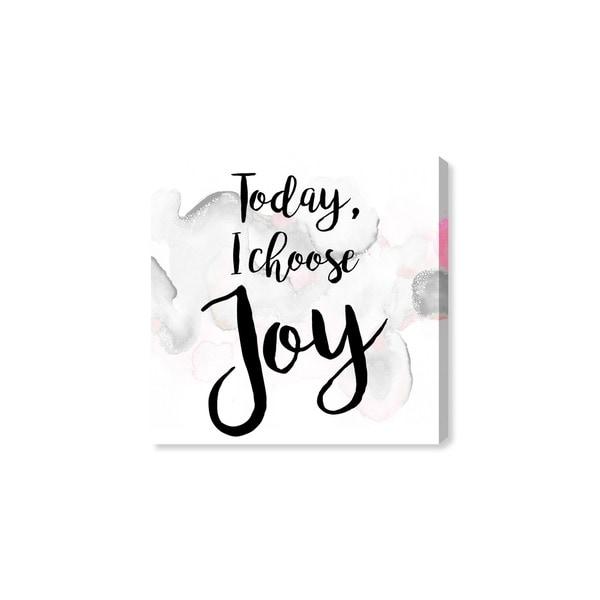 Oliver Gal 'I Choose Joy' Canvas Art