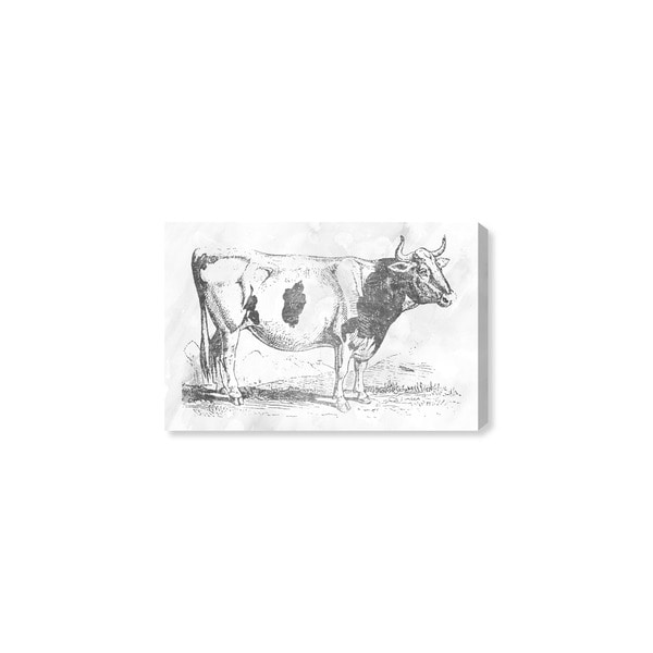Oliver Gal 'Cow in silver' Canvas Art