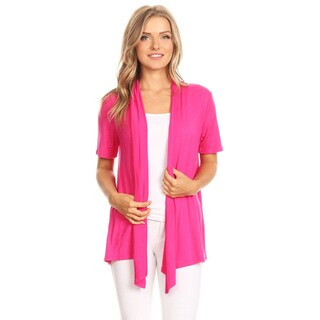 Women's Solid Draped Open Cardigan