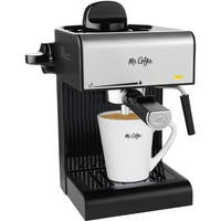 Mr. Coffee Caf 20-Ounce Steam Automatic Espresso Maker and Cappuccino Machine with Built-in Frothing Wand, Black