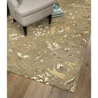 Hand-Tufted Christopher Palace Light Brown Wool Rug - 8' x 10'