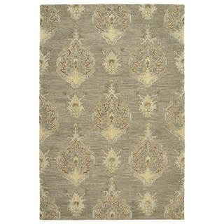 Hand-Tufted Felicity Kashan Taupe Wool Rug - 2' x 3'