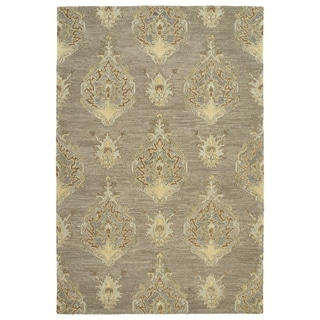Hand-Tufted Felicity Kashan Taupe Wool Rug (7'6 x 9')