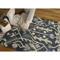 Hand-Tufted Felicity Majestic Demin Wool Rug (2'0 x 3'0) - 2' x 3'