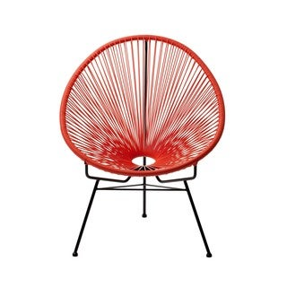 ACAPULCO PATIO WOVEN CORD CHAIR RED