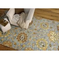 Hand-Tufted Felicity Kashan Slate Wool Rug - 8' x 11'