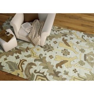 "Hand-Tufted Felicity Craftsman Silver Wool Rug (7'6 x 9'0) - 7'6"" x 9'"