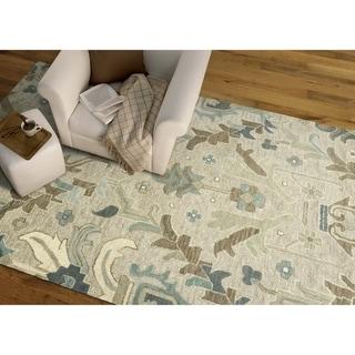 "Hand-Tufted Felicity Craftsman Oatmeal Wool Rug - 7'6"" x 9'"