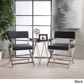 Vesper Modern Bonded Leather Arm Chair (Set of 2) by Christopher Knight Home