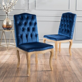 Shylo Studded Velvet Dining Chair (Set of 2) by Christopher Knight Home