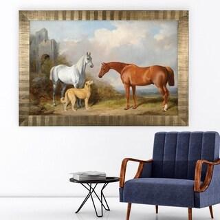 Vintage Horse Pastoral -Antique Gold Frame