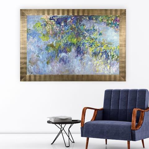 Wisteria -Claude Monet -Antique Gold Frame
