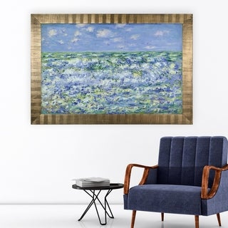 Waves-Breaking -Claude Monet -Antique Gold Frame