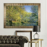 Bend-in-the-River -Claude Monet -Antique Gold Frame