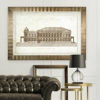 Architecture Sketch II -Antique Gold Frame