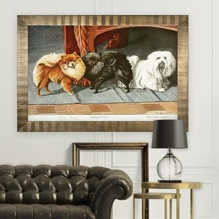 Canine Drawing I -Antique Gold Frame