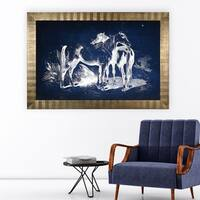 Equine Plate V -Antique Gold Frame