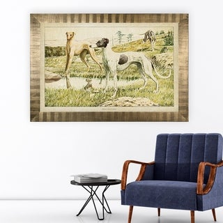 Canine Plate II -Antique Gold Frame