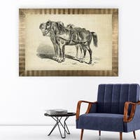 Equine Plate I -Antique Gold Frame