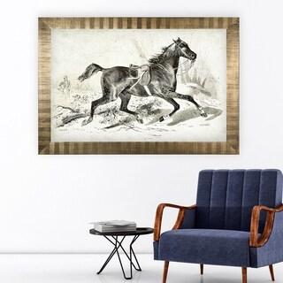 Equine Sketch VIIII -Antique Gold Frame