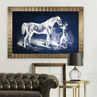 Equine Sketch VI -Antique Gold Frame
