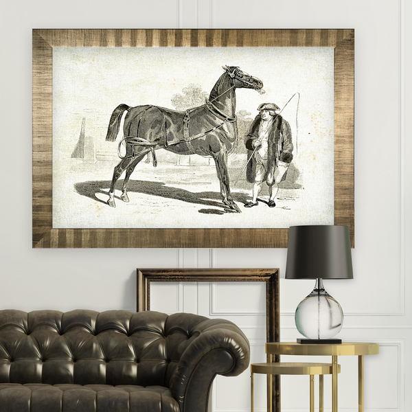 Equine Sketch VII -Antique Gold Frame
