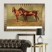 Equine Sketch XXVI -Antique Gold Frame