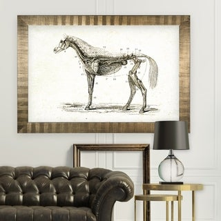 Equine Sketch XXVIII -Antique Gold Frame