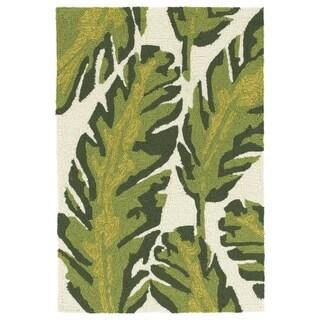 Handmade Topsail Ivory Palm Polypropylene Rug (2'0 x 3'0) - 2' x 3'