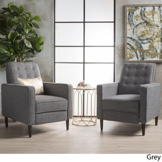 Strick & Bolton Simone 2-piece Mid-Century Recliner Club Chair Set (4 options available)