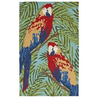 Handmade Topsail Multi Parrot Polypropylene Rug (5' x 7'6)