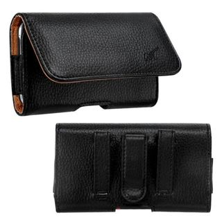 Insten Black/ Brown Textured Horizontal Pouch 2912 For ZTE N9500/Z750C