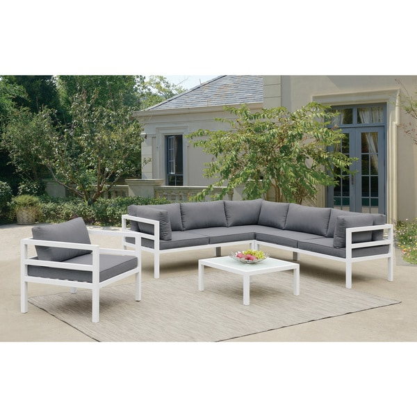 Poundex Coffee Table.Poundex Lizkona All Weather Outdoor 5 Piece Conversation Set With Cocktail Table