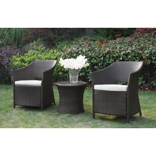 Poundex LIZKONA All-Weather 3-PCS Outdoor Steel Frame Conversation Set