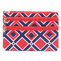 Zodaca Times Square Zippered Coin Purse Wallet Pouch Bag Multipurpose Travel Organizer