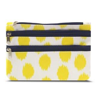 Zodaca Dots Zippered Coin Purse Wallet Pouch Bag/ Multipurpose Travel Organizer