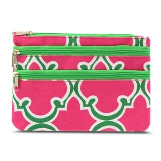 Zodaca Quatrefoil Zippered Coin Purse Wallet Pouch Bag/ Multipurpose Travel Organizer