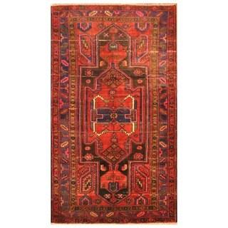 Handmade Herat Oriental Persian Tribal Hamadan Wool Rug - 4'6 x 7'9 (Iran)