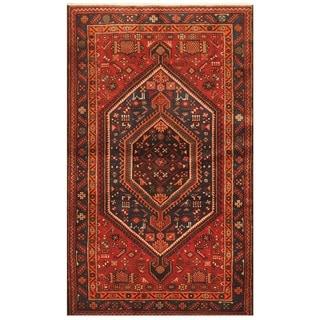 Herat Oriental Persian Hand-knotted Tribal Hamadan Wool Rug (4'10 x 8')