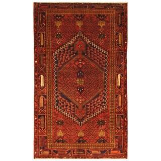 Handmade Herat Oriental Persian Tribal Hamadan Wool Rug - 4'6 x 7'7 (Iran)