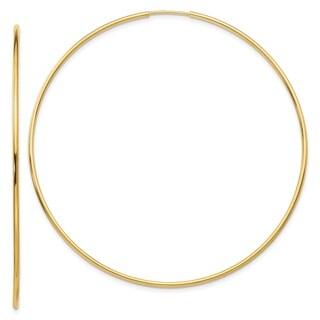Link to 14K Yellow Gold Polished Endless Tube Hoop Earrings by Versil Similar Items in Earrings